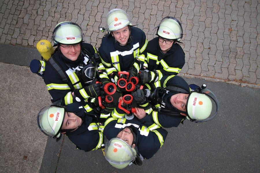 Gruppenfoto vom Nachwuchs der Feruerwehr Wunstorf
