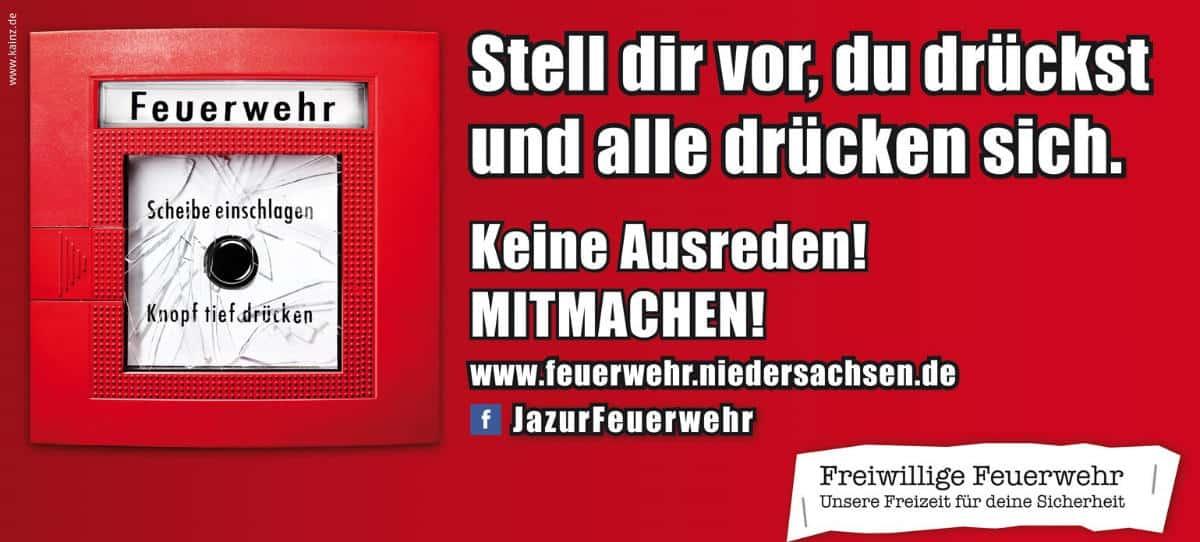 Kampagne der Feuerwehr Niedersachsen