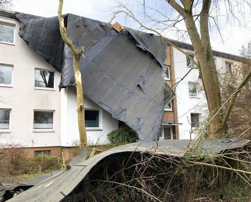 Sturmschaden 7.März 2019 Fassade